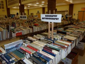 Biography Section at Library Booksale