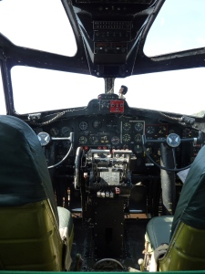 B-17F cockpit for pilot and co-pilot.  Both men were officers.