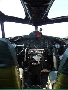 B-17F cockpit for pilot and co-pilot.  Both men were officers.