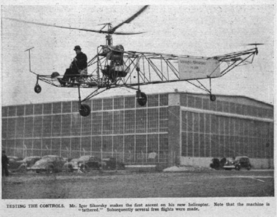 Sikorsky First Helicopter Flight 1939