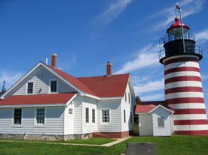 West Quoddy Head Light in Lubec, Maine