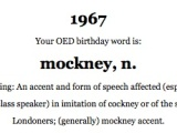 Oxford English Dictionary (OED) birthday word generator