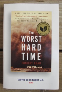 "Special book cover of ""The Worst Hard Time"" for World Book Night 2013"