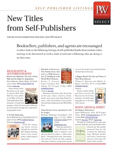 Publishers Weekly Select March 22, 2014