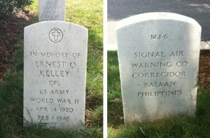 My uncle's marker at Arlington National Cemetery.