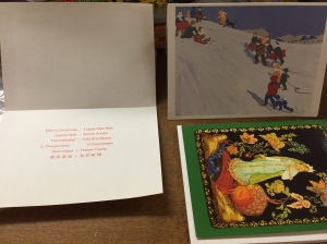 Nice old greeting cards for the multi-lingual recipient.